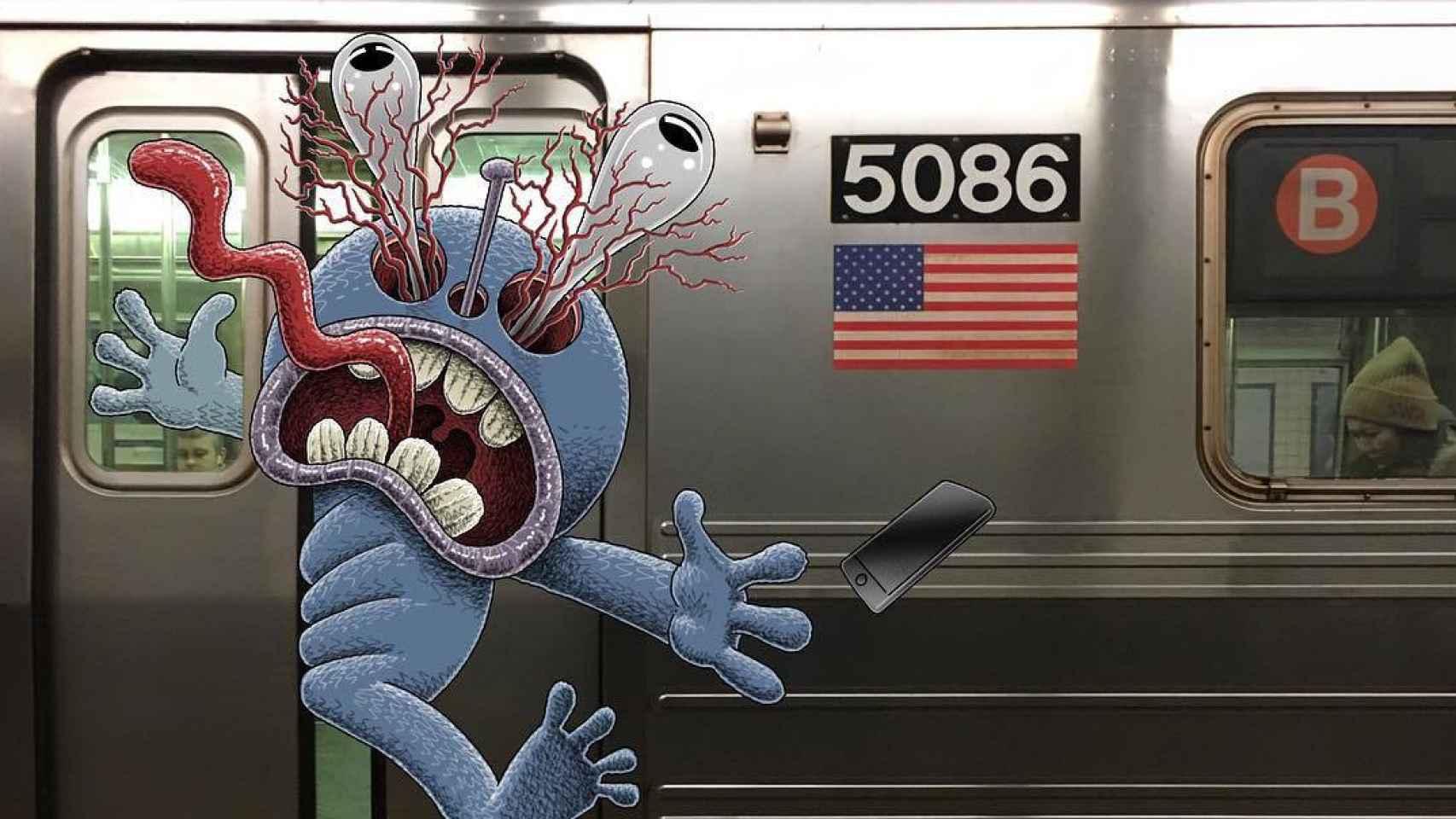 Un artista está llenando el metro de Nueva York de monstruos