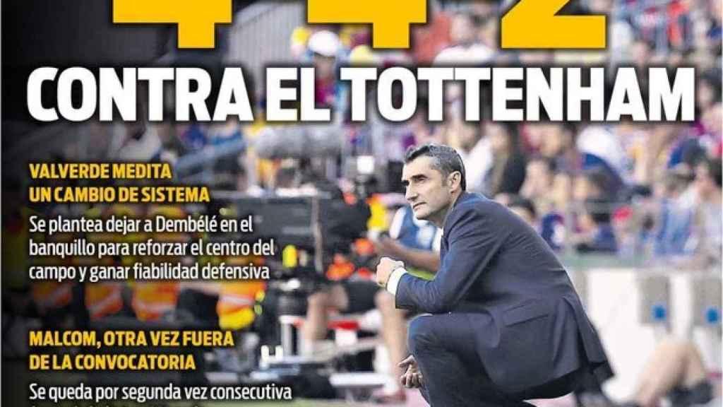 Portada del diario Sport (02/10/2018)