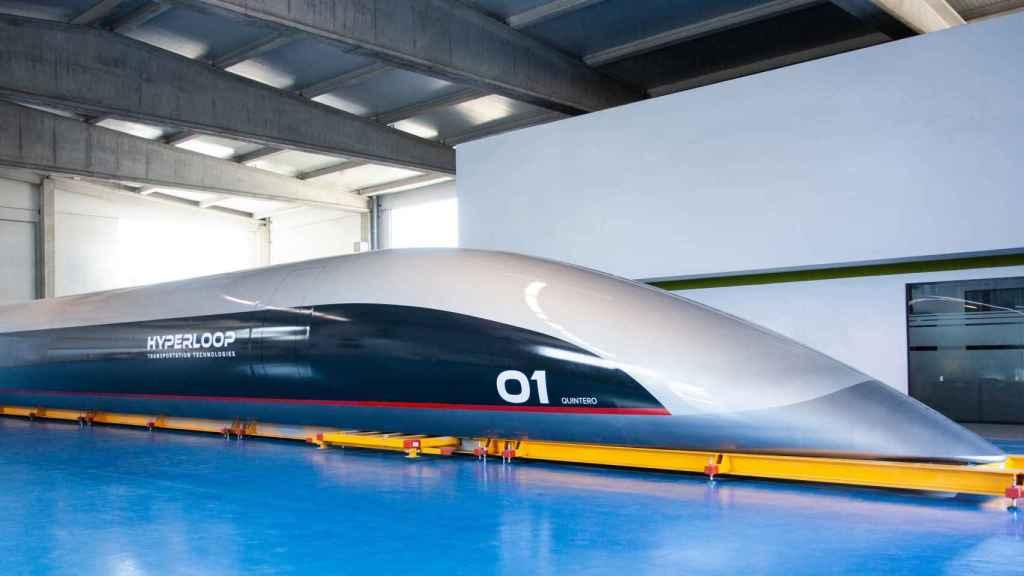 Fotografía de la HyperloopTT Capsule hecha pública este martes.
