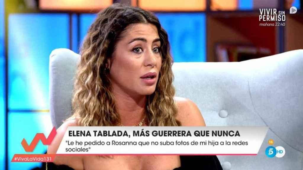 Elena Tablada en el programa 'Viva la vida'.