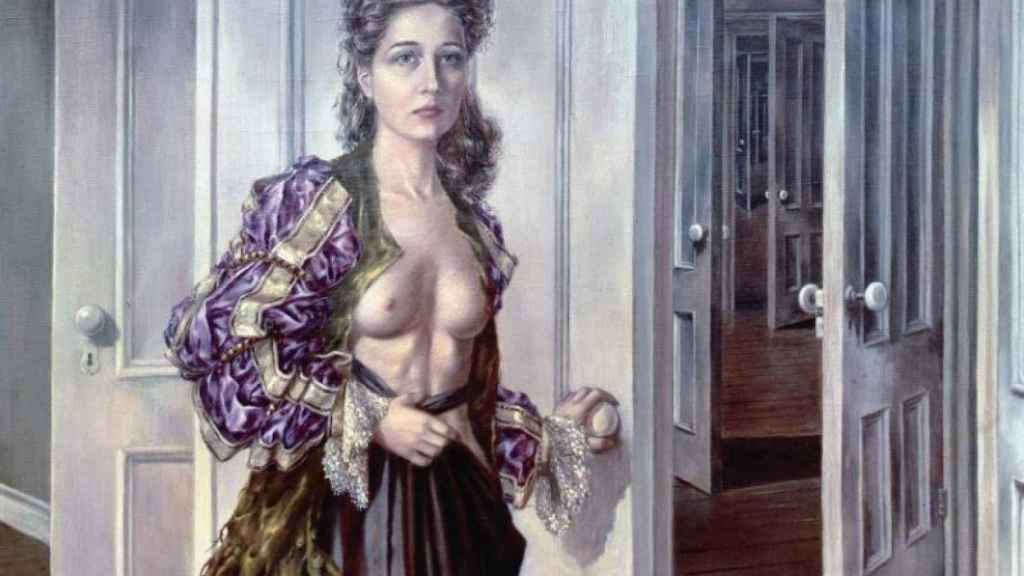 Dorothea Tanning en su autorretrato Birthday.