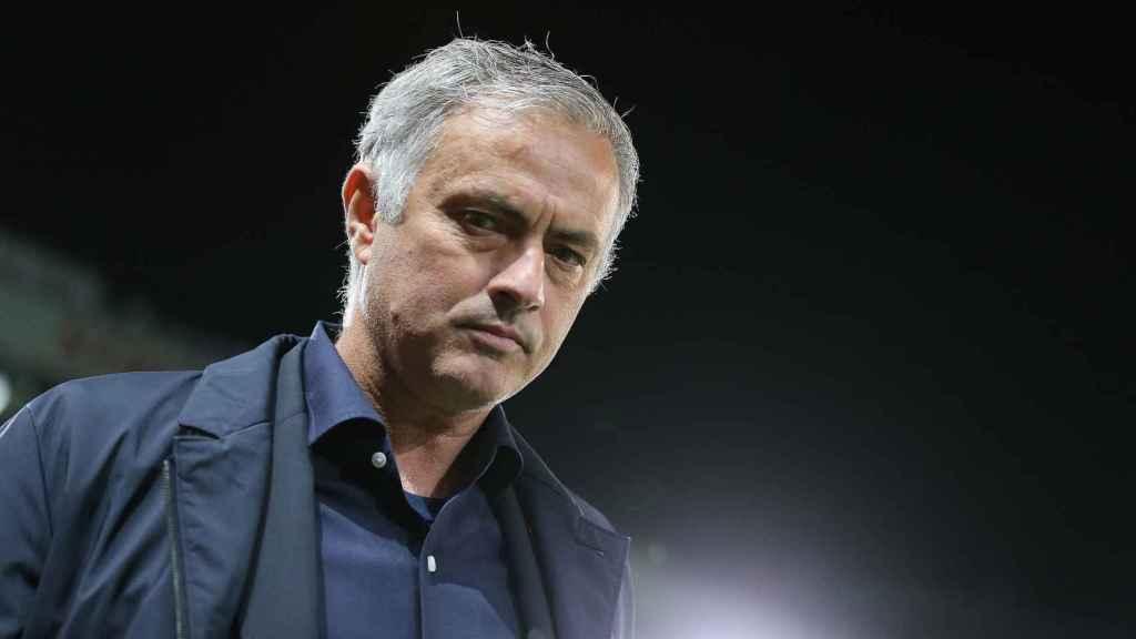 Mourinho, en el partido contra el Valencia
