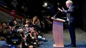 El conservador Boris Johnson, este martes en Birmingham.