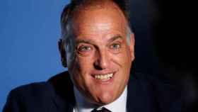Javier Tebas, presidente de La Liga, en una entrevista con Reuters en Madrid