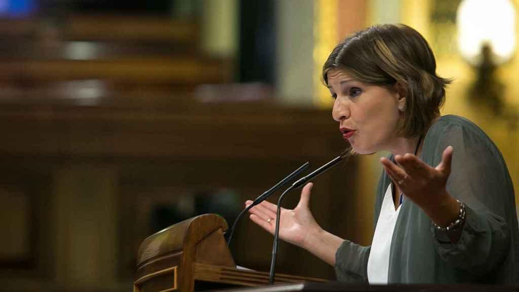 Yolanda Díaz, diputada de Unidos Podemos, en la tribuna del Congreso.