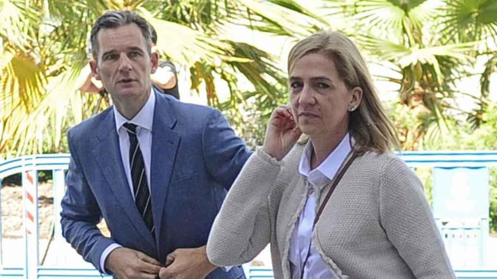 Iñaki Urdangarin y la infanta Cristina, asistiendo a uno de los juicios del Caso Noós.