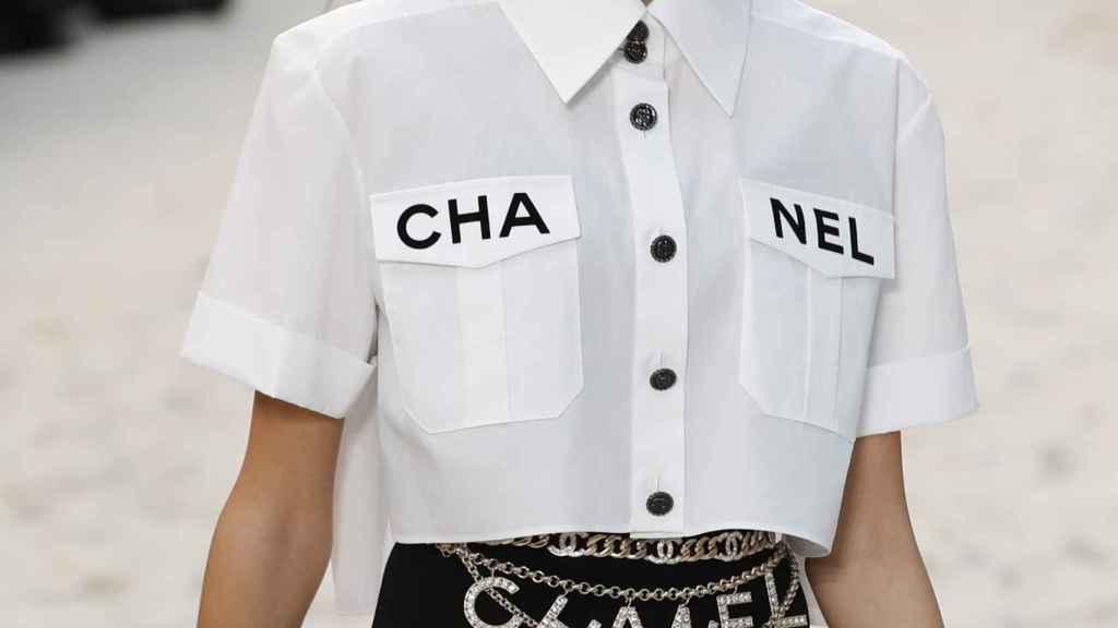 Kaia Gerber en el desfile de Chanel.