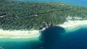 Vista aérea sobre Rainbow Beach, lugar del hundimiento