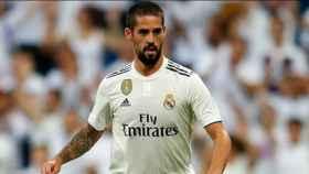 Isco, en un partido con el Real Madrid