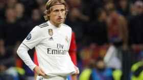 Modric, en un partido del Real Madrid