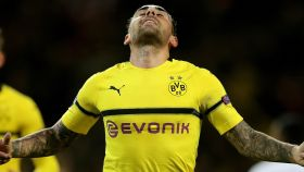 Paco Alcácer celebra su gol en el Borussia Dortmund - Mónaco