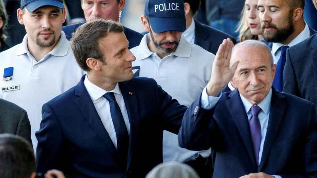 Macron junto con Collomb, en una imagen de archivo.