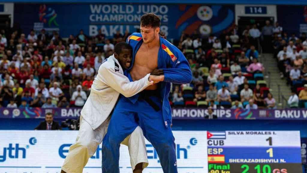 Niko Sherazadishvili, durante un momento del campeonato
