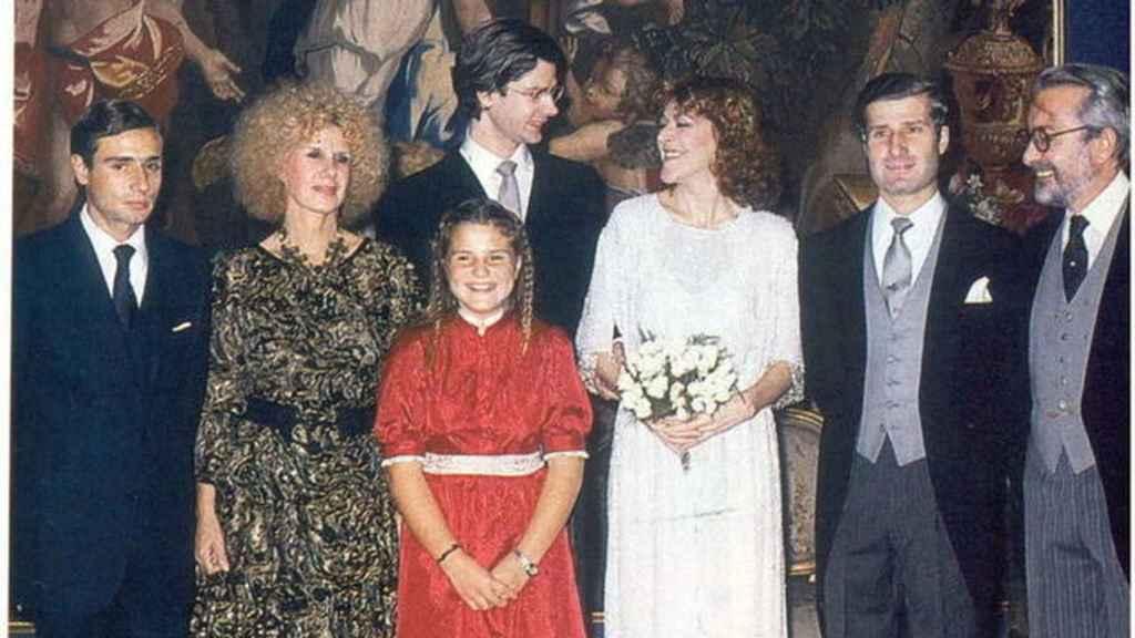 Jacobo Fitz-James Stuart y María Eugenia, en su boda.