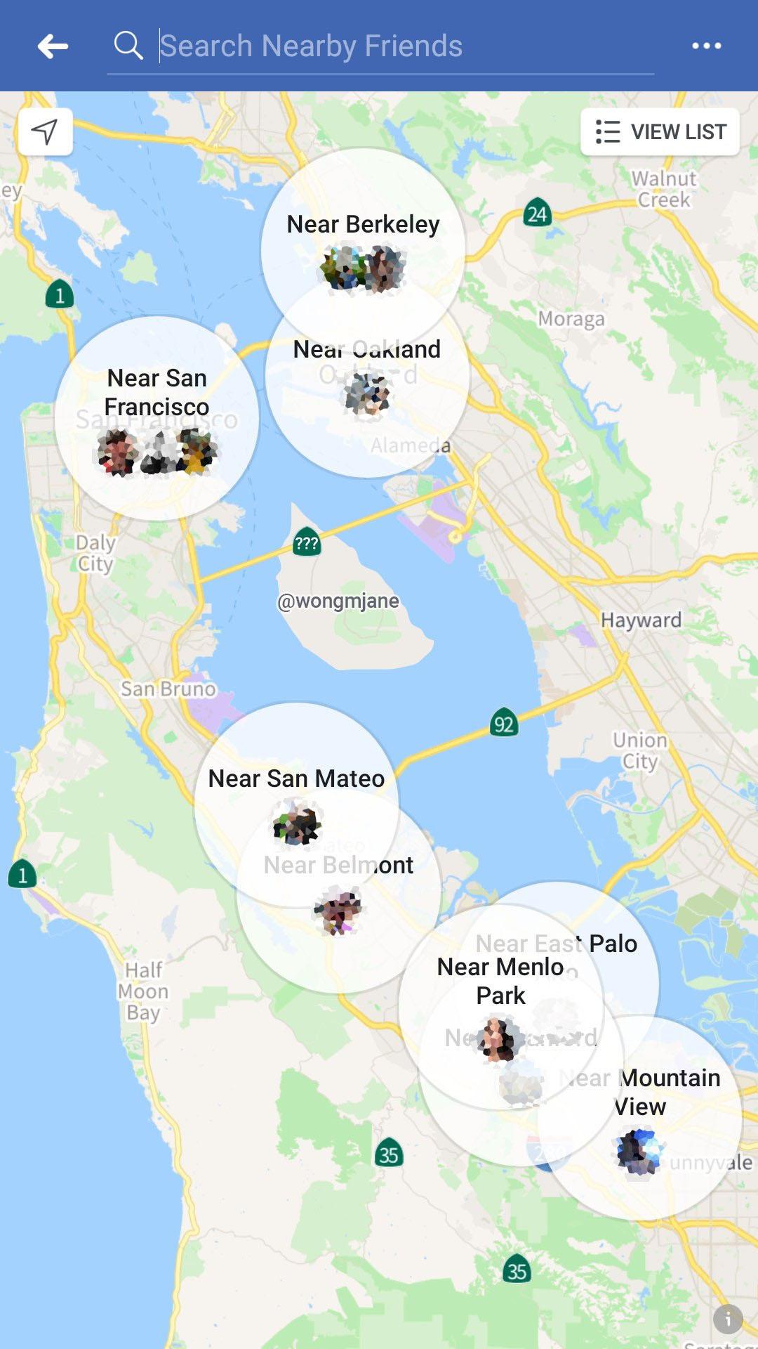 mapas facebook amigos