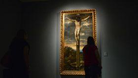 Cristo crucificado, de Tiziano, hasta ahora en la Sacristía mayor escurialense.