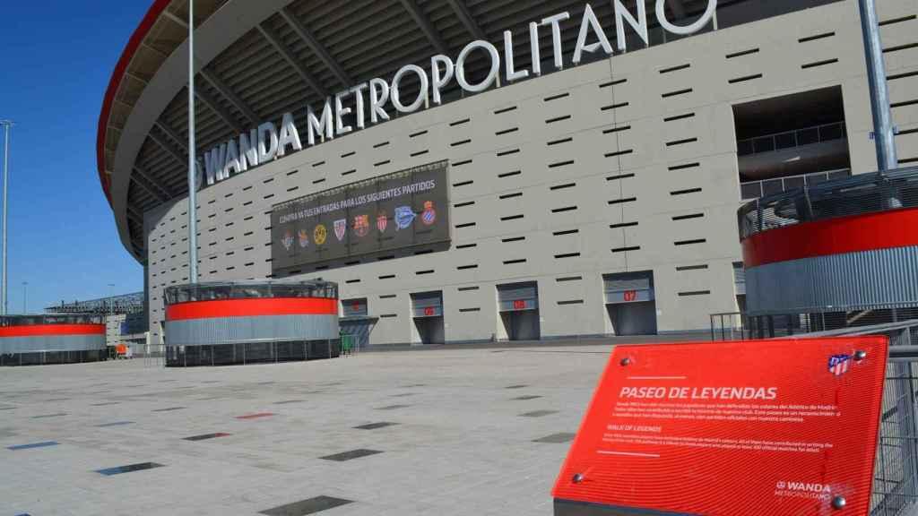 El paseo de leyendas del Wanda Metropolitano. Foto: Daniel Mata / EL ESPAÑOL