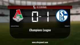 El Schalke 04 derrotó al Lokomotiv de Moscú por 0-1