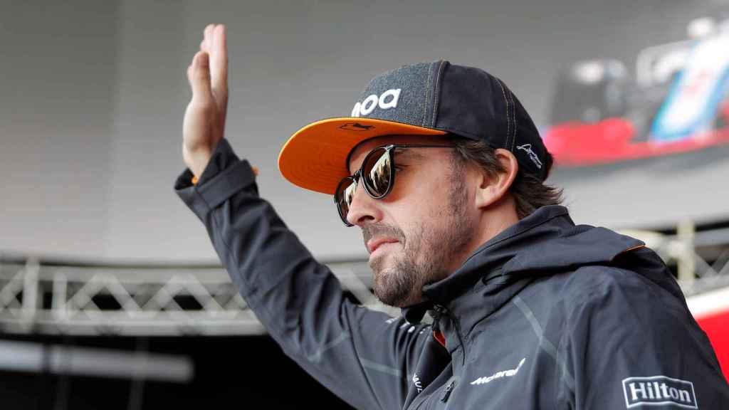 Fernando Alonso, durante un GP de Fórmula 1 en su etapa con McLaren