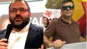 Norberto Pico, jefe nacional de Falange de las JONS, y Rafael Ripoll, presidente de España 2000.