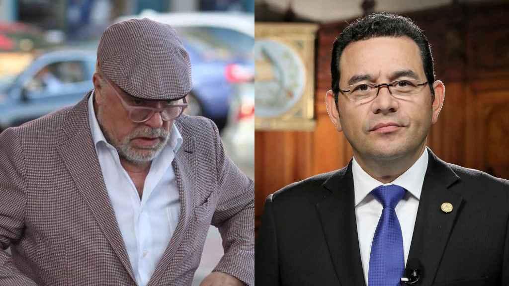 El comisario José Manuel Villarejo y el presidente de Guatemala, Jimmy Morales.