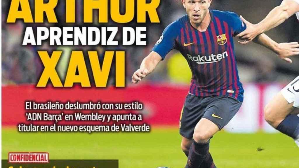 La portada del diario SPORT (05/10/2018)