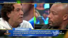 Pipi Estrada y Congo en El Chiringuito. Foto: Twitter (@elchiringuitotv)