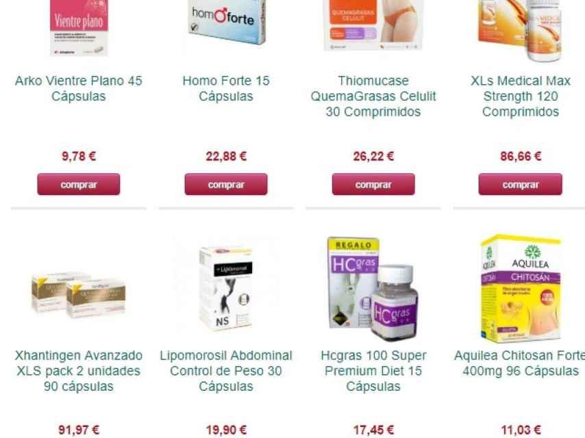 Una de las páginas web que ofertan este tipo de productos.