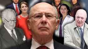 De izquierda a derecha: Ramón Rato, Rodrigo, Alicia González, Rodrigo Rato, Gel, Gela Alarcó, Ana y Ramón Rato.