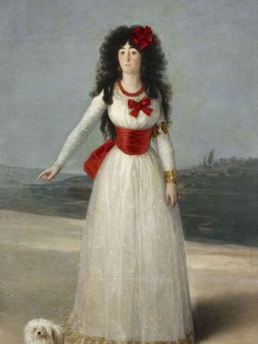 Retrato de la duquesa de Alba, de Goya.