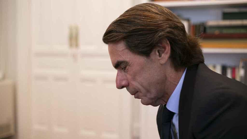 Aznar en su despacho de la Fundación Faes, donde tuvo lugar la entrevista.