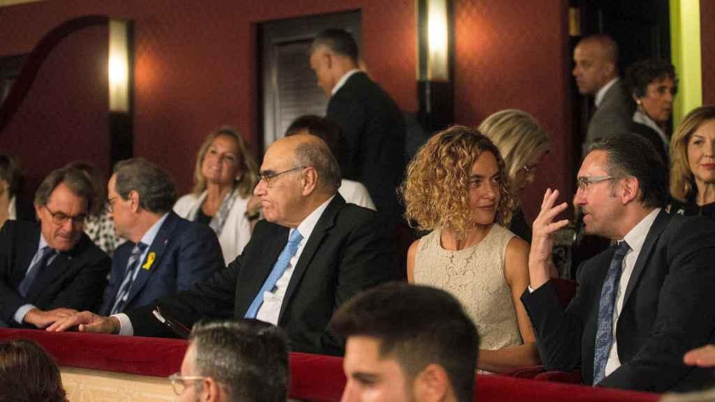 Quim Torra, Meritxell Batet y Manuel Valls, en inauguración temporada Liceu