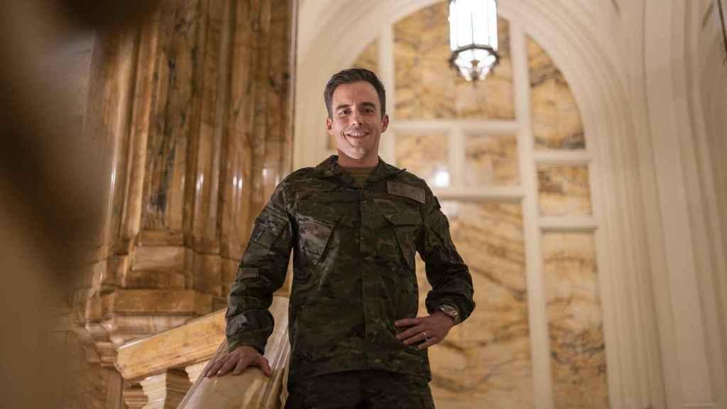 El comandante Rafael López de Anca (41 años) posa para EL ESPAÑOL.