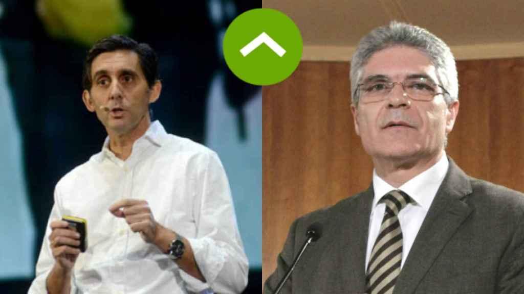 COMO LEONES: José María Álvarez Pallete (Telefónica) e Isaías Táboas (Renfe)