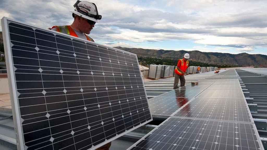 Placa fotovoltaica, en una imagen de archivo.