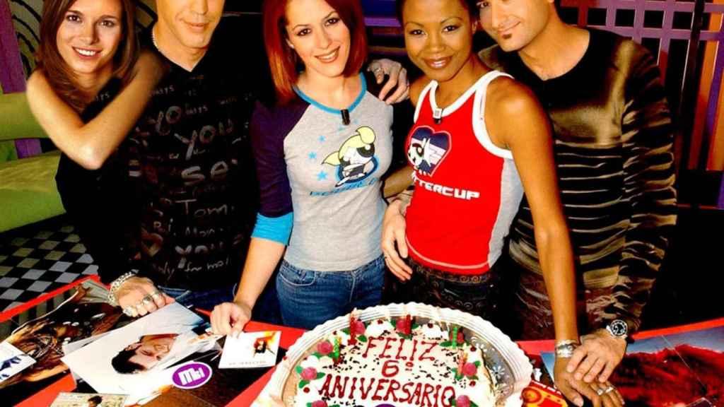 Jennifer Rope junto a sus compañeros de Música Sí.