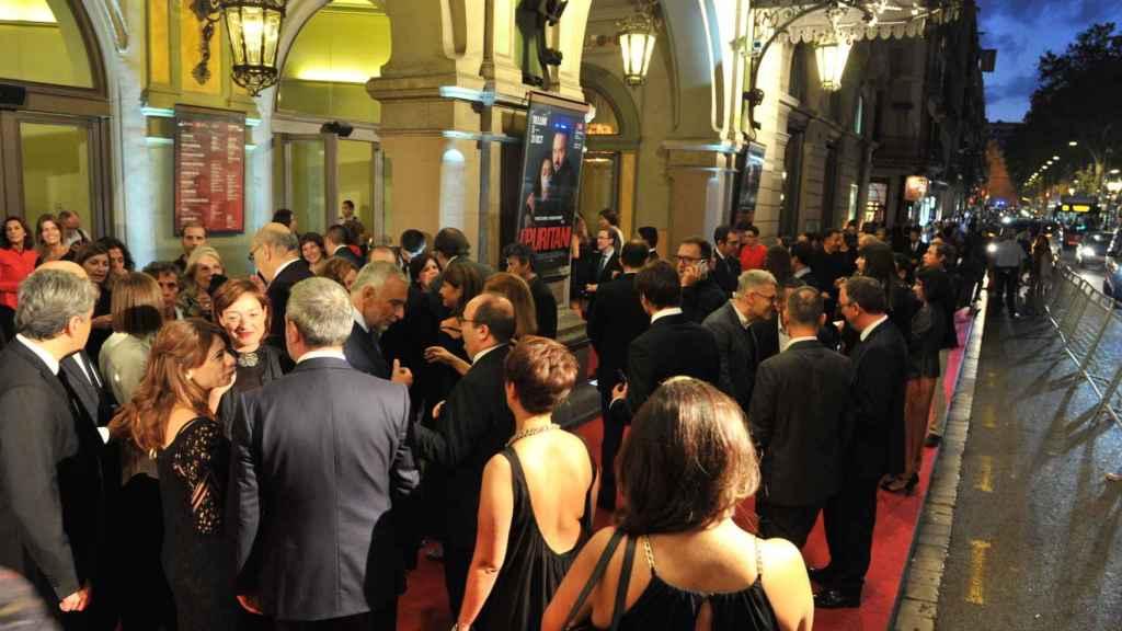 La alfombra roja del Liceu para el estreno de I Puritano.