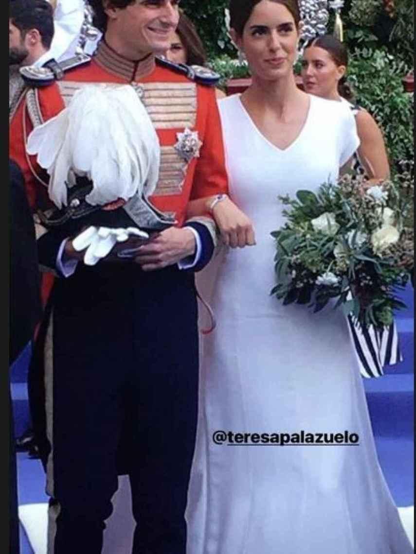 Los futuros duques de Alba convertidos en marido y mujer.