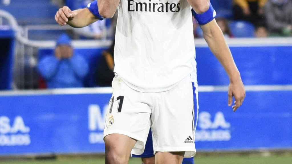 Gareth Bale lamenta una ocasión fallada.
