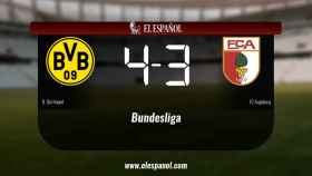 Los tres puntos se quedaron en casa: Borussia Dortmund 4-3 FC Augsburg