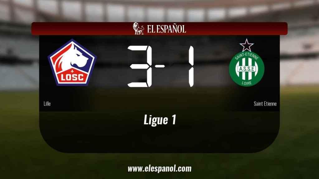 El Lille ganó en casa al Saint Etienne