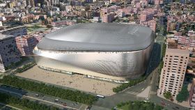 Recreación del nuevo estadio Santiago Bernabéu tras la reforma.