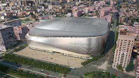 Recreación del Bernabéu tras sus obras de mejora.