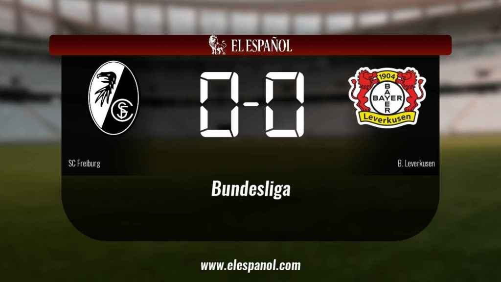 El SC Freiburg empató ante el Bayern Leverkusen (0-0)