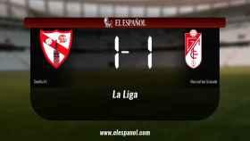 El Sevilla At. no pudo conseguir la victoria frente al Recreativo Granada (1-1)