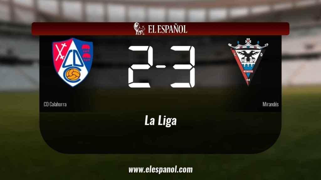 El Calahorra cae derrotado frente al Mirandés por 2-3