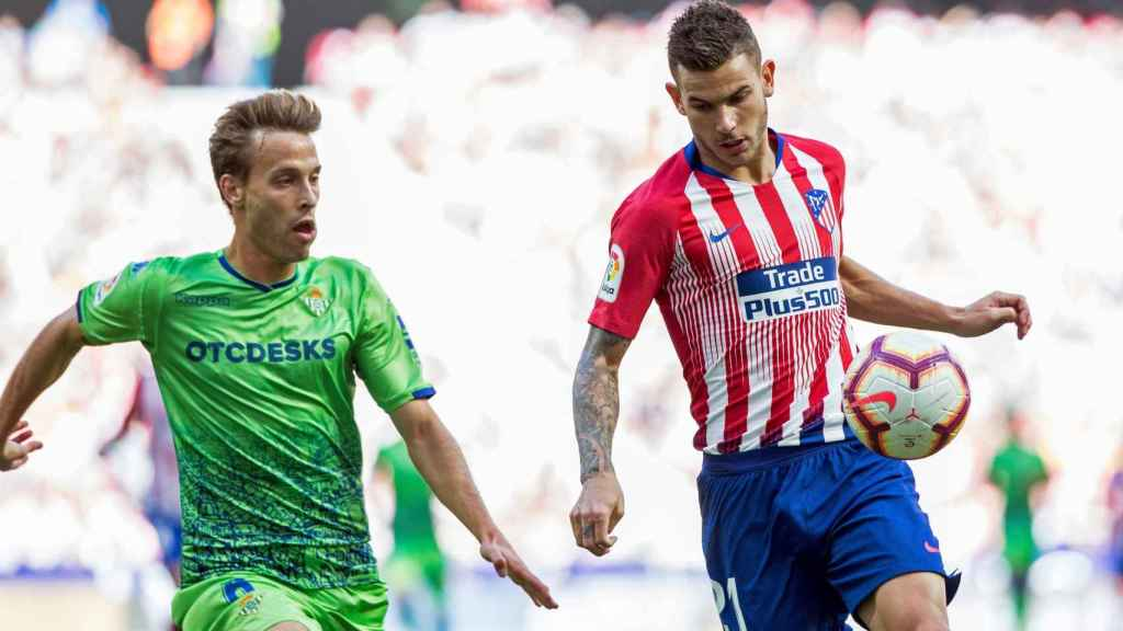 Lucas Hernández, en el Atlético de Madrid - Betis de La Liga