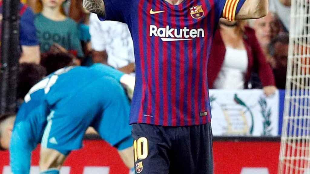 Messi frente al Valencia