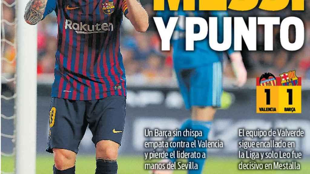 La portada del diario Sport (08/10/2018)