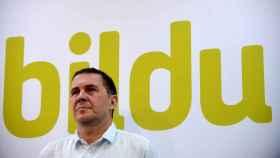 Arnaldo Otegi en la presentación de la candidatura de EH Bildu